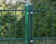 Schlichte Doppelstabgittermatten im klassischen Grün.