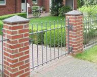 Gartentor Brüssel wirkt dank Minimalismus sehr modern.