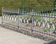 Gartenzaun Goeteborg mit herzlicher Ornamentik.